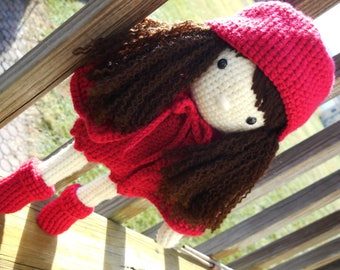 Crocheted Lil' Red Riding Hood