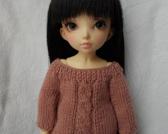 Handmade outfit pullover for yo-sd, but available for any kind of dolls (momoko, barbie, fashion royalty, pullip, blythe, bjd...)