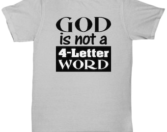 God is not a 4-letter word
