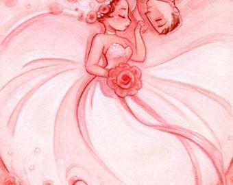 Blushing Bride: Art Print