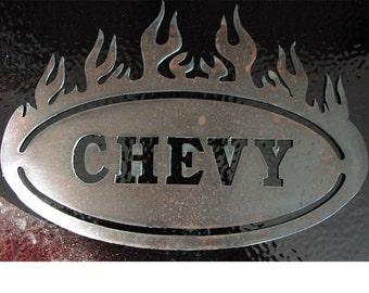 1  HOT Chevy PLAQUE - Metal art