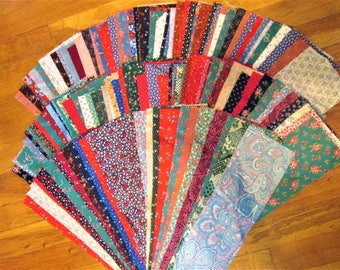 Quilter's Special 160 Cotton Fabric Manufacturer's Sample Strips