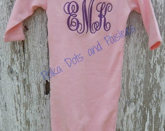 Monogrammed Baby Gown with FREE Personalization