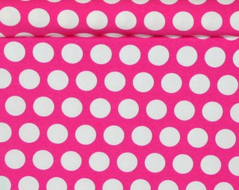 Knit Pink Princess Dots Fabric 1 yard
