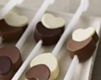 Quality Silicone Double Heart Chocolate Stirrer Mold