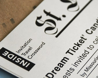 Newspaper Wedding Invitation - Design Fee