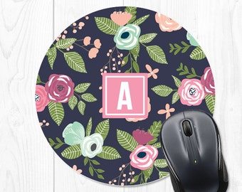 Mouse Pad Floral Office Supplies Mousepad Mouse Mat Office Decor Personalized Desk Accessories Coworker Gift Office Desk Accessories Cubicle