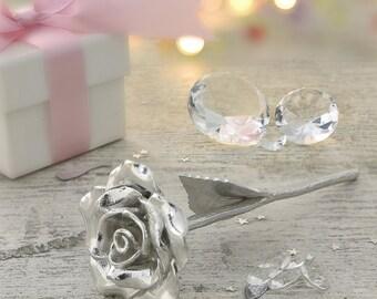 15th Anniversary Gift Everlasting Rose - 15 Year Anniversary Gift Idea