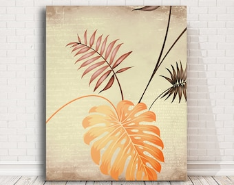 Palm Leaves Tropical Wall Art Wall Decor Large camvas print 50th anniversary gifts Wedding Gift for couple beach decor