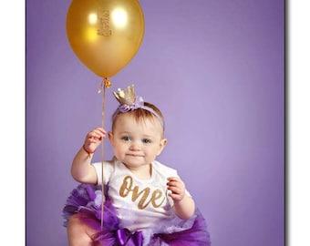 Purple first birthday outfit 'Aly' purple first birthday, purple birthday outfit, purple tutu set, first birthday girl, purple cake smash