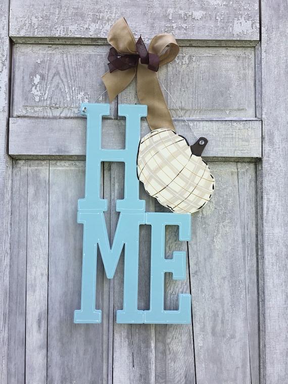 Pumpkin HOME Door hanger, Home Door hanger, fall door hanger, autumn door hanger, farm house door hanger