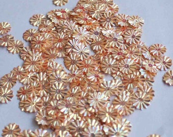 100 Metallic  Round Shape Sequins.......Peachish Copper color/KBRS125