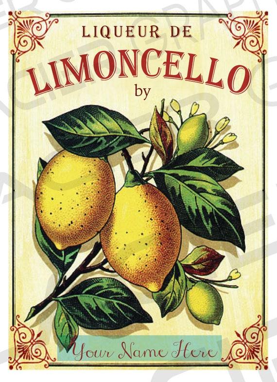 Brand new Limoncello Label Customizable Limoncello Bottle Label RM63