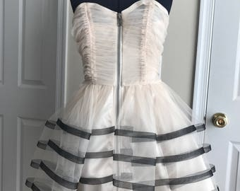 Cream and black Betsey Johnson special occasion / party dress