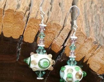Opposites Attract~ Lampwork & Sterling Silver Earrings