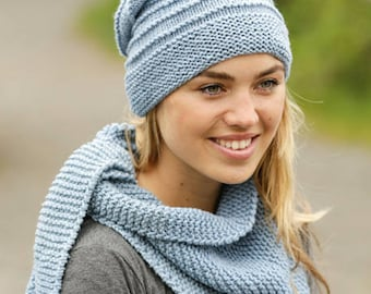 Handmade Wool knitted beanie hat, choose your color