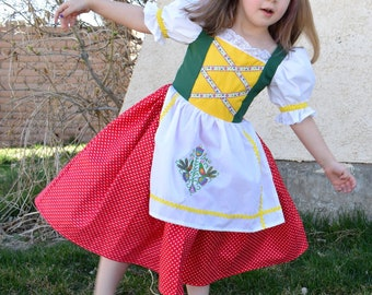 Girls Truly Scrumptious Music Box Doll Costume, Chitty Chitty Bang Bang, Bulgarian, German, Bavarian, European, International, Dirndl, Folk