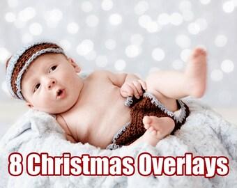 Christmas Photoshop Bokeh Light Overlay Photography