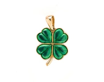 Four leaf clover shamrock necklace lucky charm Infinity shamrock best friend gift St Patricks Day gift