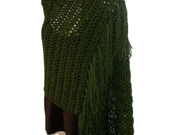 Womens Shawl, Shawl Wrap, Fringe Shawl, Crochet Wrap, Elegant Shawl, Winter Wrap, Womens Wrap, Womens Stole, Fashion Shawl, Shoulder Shawl