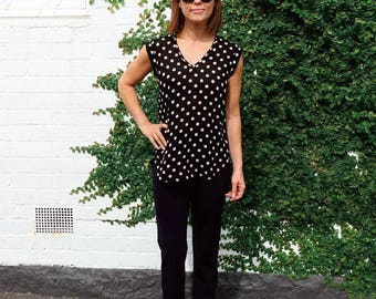 Style Arc Sewing Pattern - Parker Tunic- Sizes 8, 10, 12 - Women's Tunic Top - PDF Sewing Pattern
