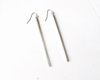 Extra long bar earrings