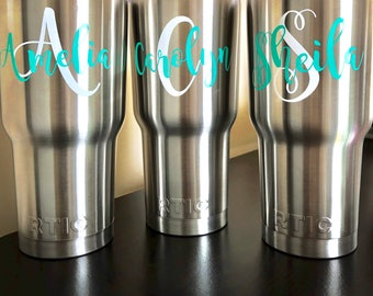 Personalized Tumbler, 30 oz Monogram Tumbler, Tumbler, Monogram Cup, Beach Tumbler, Monogram Tumbler, Tumbler, Vacuum Insulated Stainless St
