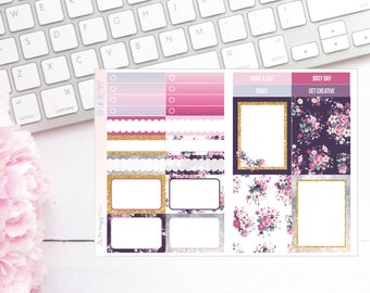 Plum Florals Pocket TN Kit - Planner Stickers