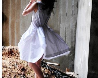White linen dress cotton maxi dress