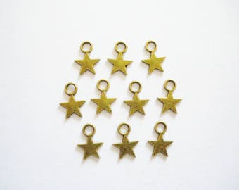 10 charms star 11x8mm