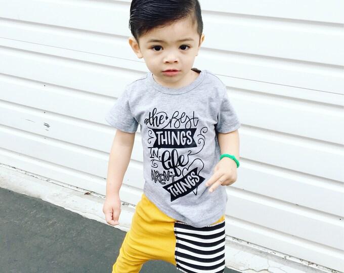 Featured listing image: Mustard Sidecar Pocket Baby + Toddler Harem Pants