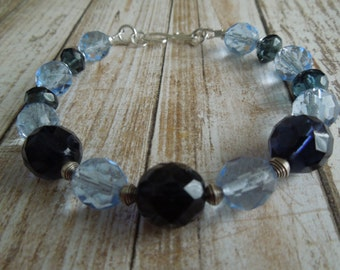 Lena Shades of Blue & Silver Bracelet