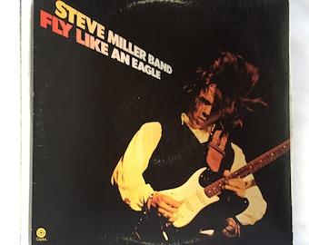 Steve Miller Band - Fly Like an Eagle Vintage Vinyl Record Album LP, 70s Classic Rock / Audiophile