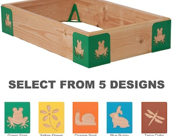 M-Brace Mini: 1 Set of Steel Raised Garden Bed Corners Kit (4 pc) - DIY Planters - 5 Patterns Available