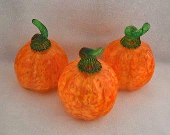 Orange Pumkins Gourds Fall Harvest Thanksgiving Halloween Table Center Piece