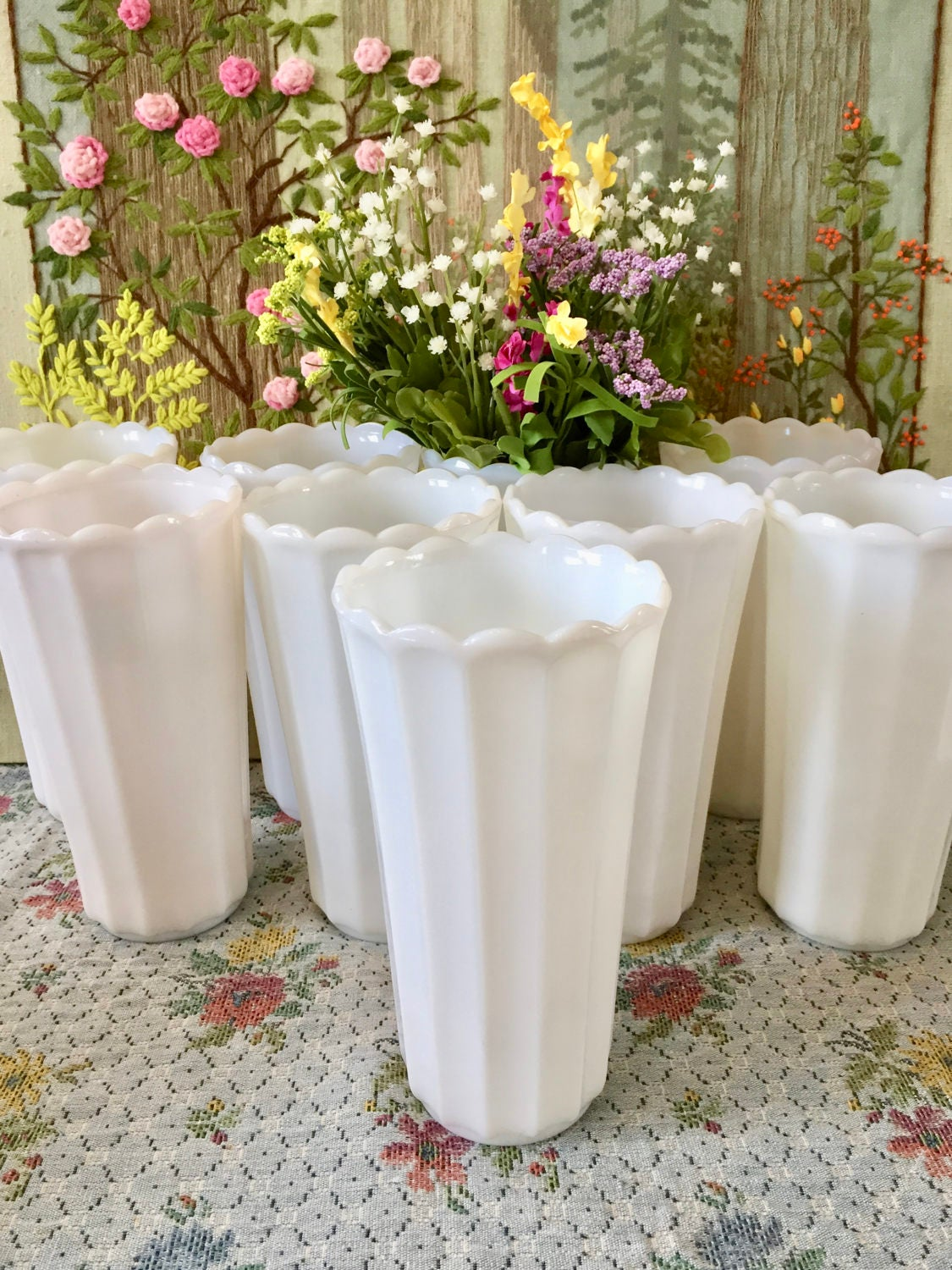 Milk glass vases for wedding centerpiece vases table zoom reviewsmspy