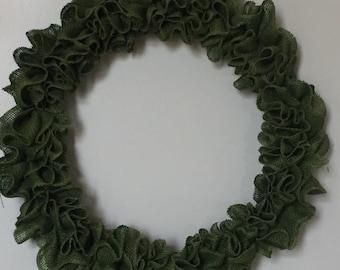 Burlap ruffle wreath