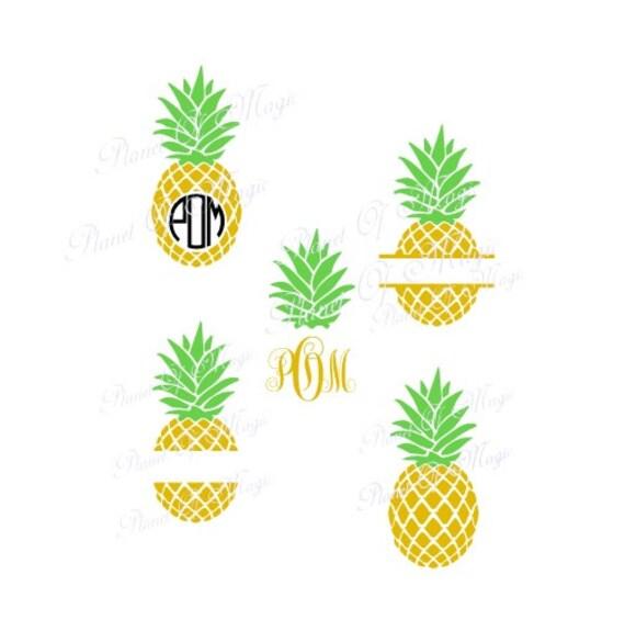 Pineapple Svg File Pineapple Monogram Svg File Summer Svg