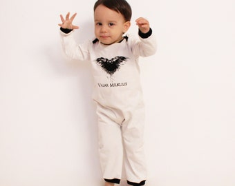 Baby Game of Thrones Costume   Toddler Halloween Costume   Nightu0027s Watch Outfit   GoT Jon Snow OnePiece Stark Girl/Boy Goth   Sizes NB-4T  sc 1 st  Etsy & Baby Vampire Costume Halloween Costume Milkula Bodysuit u0026