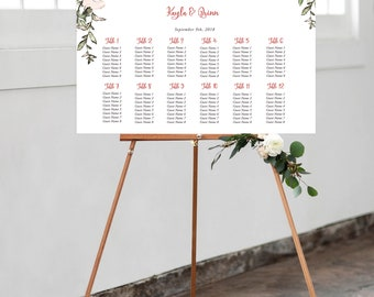 Seating Chart - Roses in Bloom (Style 13807)
