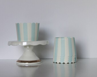 Blue and White Stripe Treat Cups / Blue and White Treat Cups / Treat Cups / Baking Cups /Blue and White / Striped Treat Cup