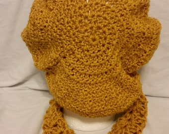Gold slouch hat and cowl set