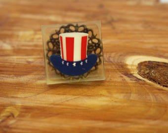 Patriotic Hat Ring