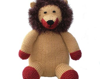 Lion Toy, Knitted Toy, Stuffed Toy, Soft Toy, CE Tested Toy, Collectors Item, Child Gift, Kids Gift, Baby Shower Gift