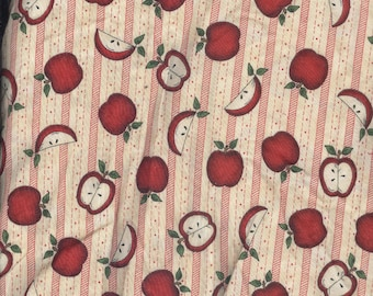 Cotton Fabric- Apples Country Style