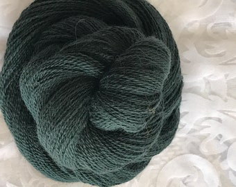 "437 yards Baby Alpaca Lace Yarn 50g - ""Cauldron Green"""