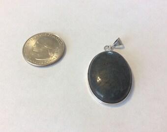 Vintage sterling silver bloodstone pendant