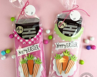 KIT Hoppy Easter Candy Bar Wraps / Kids Easter Basket / Easter Candy / Employee Gifts / Co-Workers Treats/ Office Treats / Easter Treats