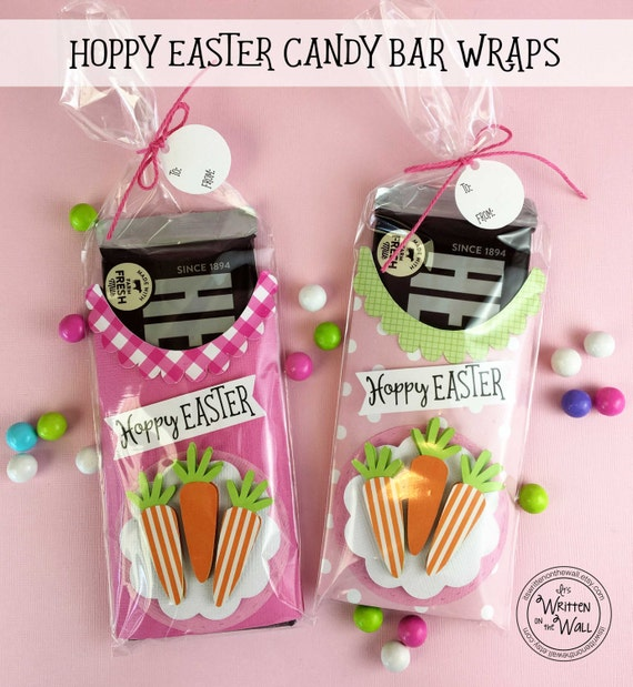 Kit hoppy easter candy bar wraps kids easter basket easter like this item negle