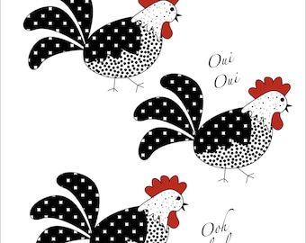 French Hens Holiday Notecards